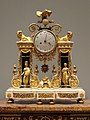 Portico Clock, about 1780-1790, French, gold, enamel - Cleveland Museum of Art - DSC08822.JPG