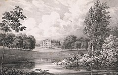 Portnall Park. The seat of Colonel Bisse Challoner (1828) by George Frederick Prosser.jpg