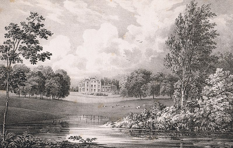 File:Portnall Park. The seat of Colonel Bisse Challoner (1828) by George Frederick Prosser.jpg