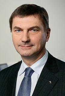 Andrus Ansip Estonian chemist and politician