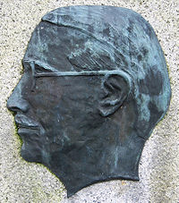Portrait relief of swedish author Frank Heller lund sweden.jpg