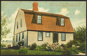 Ethan Allen - A postcard depicting Allen's birthplace in Litchfield, Connecticut