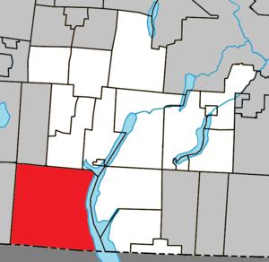 Potton, Quebec - Image: Potton Quebec location diagram
