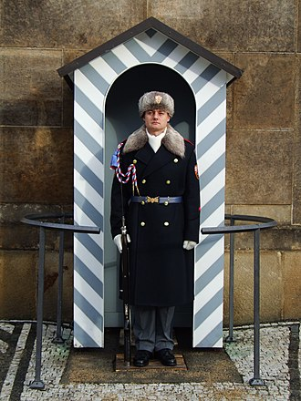 Prague Castle Guard - Image: Prague Castle Guard winter 2012