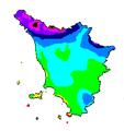 Precipitazioni medie Toscana 1961-1990.PNG