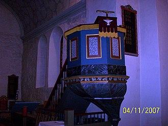 Ørland Church - Image: Prekestol ørland kirke