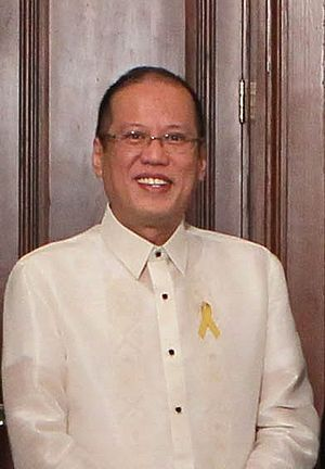 English: Philippine President Benigno S. Aquin...