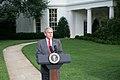 President Bush Press Conference Far Image Hurricane Ike.jpg