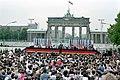 President Ronald Reagan making his Berlin Wall speech at Brandenburg Gate.jpg