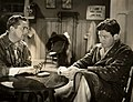 """Press photo of James Dunn and Spencer Tracy in """"Society Girl"""" - front (cropped).jpg"""