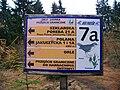 Prezjście Orle - Jizerka, tablica narciarska.jpg