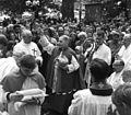 Priest, procession, bishop, shepherd's crook Fortepan 10835.jpg