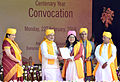 Prime Minister Narendra Modi felicitates awardees at the Centenary Year Convocation of the Banaras Hindu University (BHU).jpg