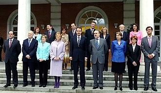 Zapatero government - Image: Primer Gobierno de José Luis Rodríguez Zapatero (2004)