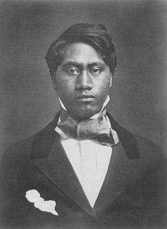 Kamehameha V - Prince Lot Kapuāiwa, traveling abroad in 1850.