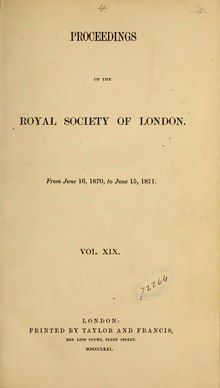 Proceedings of the Royal Society of London Vol 19.djvu