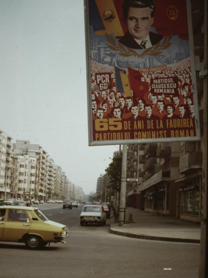 Propaganda poster Ceausescu