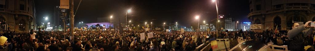 Proteste Piața Universității București 5 noiembrie 2015