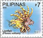 Pterois volitans 2010 stamp of the Philippines.jpg