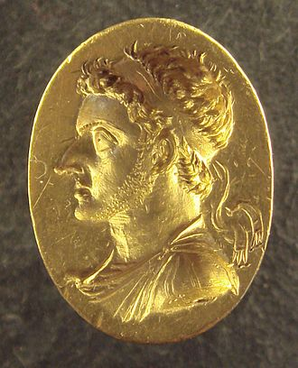 Ptolemy VI Philometor - Ring of Ptolemy VI wearing a Greek diadem