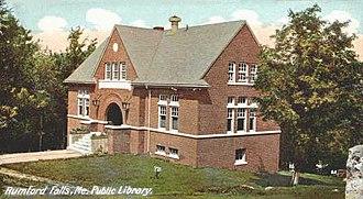 Rumford, Maine - Image: Public Library, Rumford Falls, ME