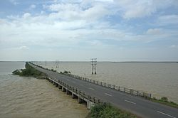 Pulicat Lake on the Andhra-Rayalseema border area of Nellore district, Andhra Pradesh