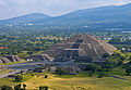 Pyramid of the Moon from Pyramid of the Sun, Teotihuacan.jpg