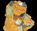 Pyrite et quartz prase (Chine).JPG