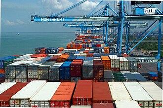 Port Klang - Image: Quay Cranes Northport Malaysia
