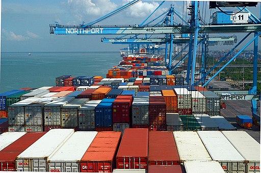 Quay Cranes Northport Malaysia