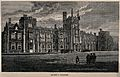 Queen's College, Oxford; panoramic view. Wood engraving. Wellcome V0014162.jpg