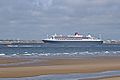 Queen Mary 2, River Mersey, New Brighton (geograph 4492937).jpg