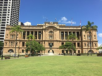 Land Administration Building - Image: Queens Gardens, Brisbane in Feb 2015 02