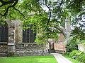 Quiet corner, Tewkesbury Abbey gardens - geograph.org.uk - 1415867.jpg