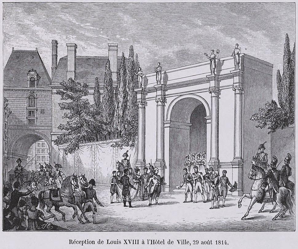 Réception de Louis XVIII à l'Hôtel de Ville, 29 août 1814