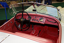 Open Two Seater Or Roadster Interior 1956 Showing Waterproof Leather Fascia