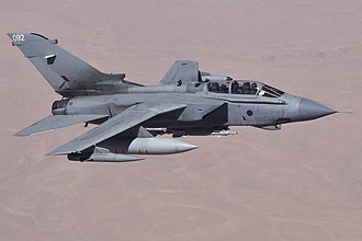 International military intervention against ISIL - RAF Tornado GR4 over Iraq on an armed reconnaissance mission.