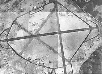 Deversoir Air Base - RAF Deversoir - Airfield about 1945 mosaic