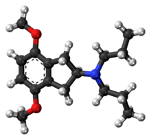 Ball-and-stick model of the RDS-127 molecule