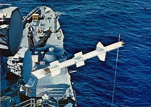 RIM-8 Talos launch from USS Chicago (CG-11) 1969.jpg