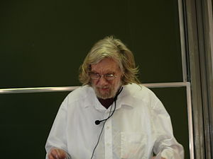 Ronald Jensen - Prof. Ronald Jensen giving a lecture during The First European Set Theory Meeting, Będlewo (Poland), July 2007