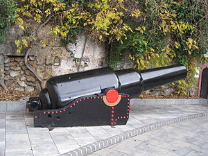 RML 10 inch 18 ton gun, Southport Gate, Gibraltar.jpg