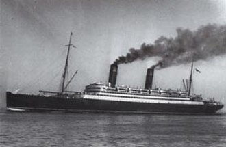 RMS Caronia (1904) - The Caronia under steam