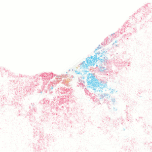 Demographics of Cleveland - Racial dot distribution map of Cleveland, as of 2000