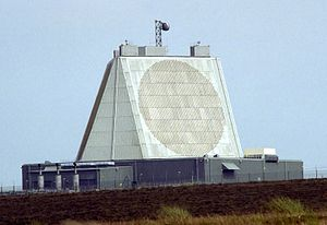Nuclear weapons and the United Kingdom - This solid-state phased array radar at RAF Fylingdales in North Yorkshire is a UK-controlled early warning station and part of the American-controlled Ballistic Missile Early Warning System.