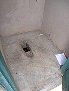 Raised pit toilet, Informal settlements Kampala