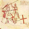 Ramón Berenguer con sus armas personales - Cruz de San Jorge.jpg