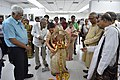 Ranjana Bandyopadhyay Lighting Lamp - Opening Ceremony - 1st Four Ps Group Exhibition - Kolkata 2019-04-17 5411.JPG