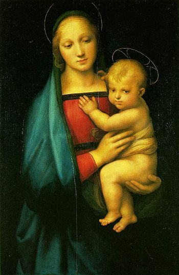 Madonna by Raphael, an example of Marian art