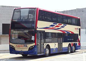Rapid Bus - Rapid KL Alexander Dennis Enviro500 MMC parked at Cheras Selatan depot.